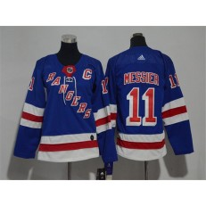 New York Rangers #11 Mark Messier Blue Youth Adidas Jersey
