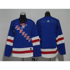 New York Rangers Blank Blue Youth Adidas Jersey