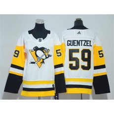 Pittsburgh Penguins #59 Jake Guentzel White Youth Adidas Jersey