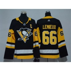 Pittsburgh Penguins #66 Mario Lemieux Black Youth Adidas Jersey