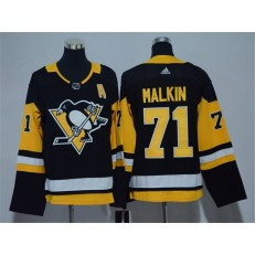 Pittsburgh Penguins #71 Evgeni Malkin Black Youth Adidas Jersey