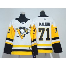 Pittsburgh Penguins #71 Evgeni Malkin White Youth Adidas Jersey