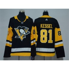 Pittsburgh Penguins #81 Phil Kessel Black Youth Adidas Jersey