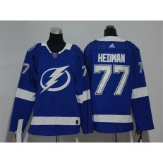 Tampa Bay Lightning #77 Victor Hedman Blue Youth Adidas Jersey
