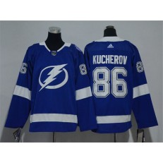 Tampa Bay Lightning #86 Nikita Kucherov Blue Youth Adidas Jersey