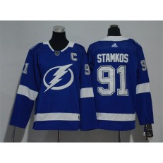 Tampa Bay Lightning #91 Steven Stamkos Blue Youth Adidas Jersey