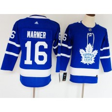 Toronto Maple Leafs #16 Mitch Marner Blue Youth Adidas Jersey