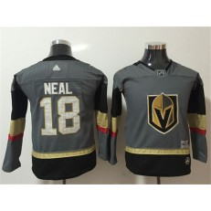 Vegas Golden Knights #18 James Neal Gray Youth Adidas Jersey