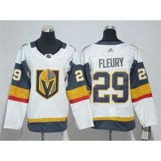 Vegas Golden Knights #29 Marc-Andre Fleury White Youth Adidas Jersey