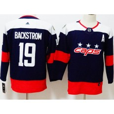 Washington Capitals #19 Nicklas Backstrom Navy Youth 2018 Stadium Series Adidas Jersey