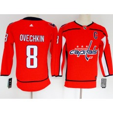 Washington Capitals #8 Alexander Ovechkin Red Youth Adidas Jersey