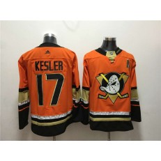 Anaheim Ducks #17 Ryan Kesler Orange Adidas Jersey
