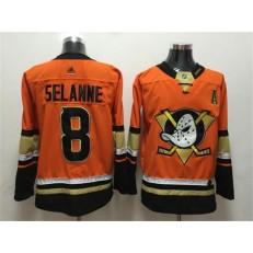 Anaheim Ducks #8 Teemu Selanne Orange Adidas Jersey