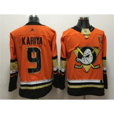 Anaheim Ducks #9 Paul Kariya Orange Adidas Jersey