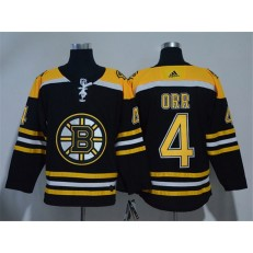 Boston Bruins #4 Bobby Orr Black Adidas Jersey