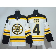 Boston Bruins #4 Bobby Orr White Adidas Jersey