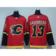 Calgary Flames #13 Johnny Gaudreau Red Adidas Jersey