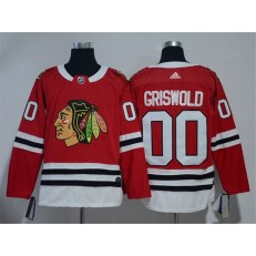 Chicago Blackhawks #00 Clark Griswold Red Adidas Jersey