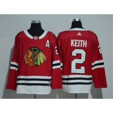 Chicago Blackhawks #2 Duncan Keith Red Adidas Jersey