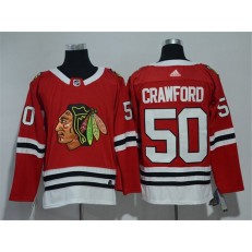 Chicago Blackhawks #50 Corey Crawford Red Adidas Jersey