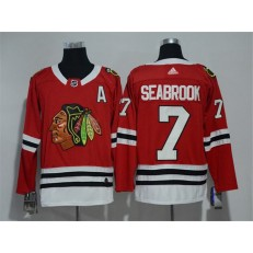 Chicago Blackhawks #7 Brent Seabrook Red Adidas Jersey