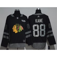 Chicago Blackhawks #88 Patrick Kane Black 1917-2017 100th Anniversary Adidas Jersey