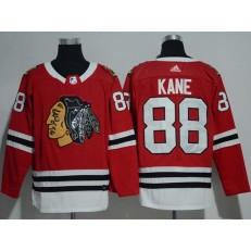 Chicago Blackhawks #88 Patrick Kane Red Glittery Edition Adidas Jersey