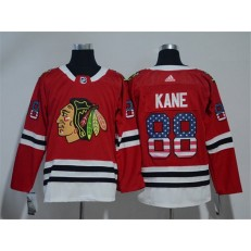Chicago Blackhawks #88 Patrick Kane Red USA Flag Adidas Jersey