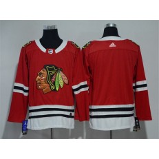Chicago Blackhawks Blank Red Adidas Jersey