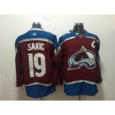 Colorado Avalanche #19 Joe Sakic Red Adidas Jersey