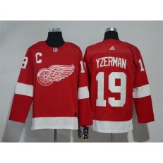 Detroit Red Wings #19 Steve Yzerman Red Adidas Jersey
