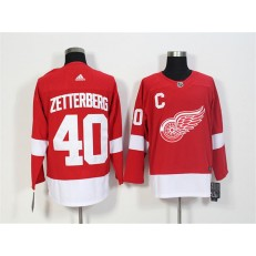 Detroit Red Wings #40 Henrik Zetterberg Red Adidas Jersey