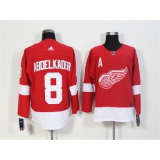 Detroit Red Wings #8 Justin Abdelkader Red Adidas Jersey