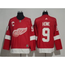 Detroit Red Wings #9 Gordie Howe Red Adidas Jersey