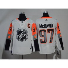 Edmonton Oilers #97 Connor McDavid White Adidas 2018 NHL All-Star Game Pacific Division Authentic Player Jersey