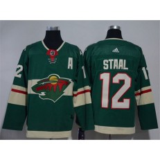 Minnesota Wild #12 Eric Staal Green Adidas Jersey
