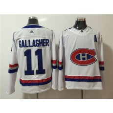 Montreal Canadiens #11 Brendan Gallagher White 2017 NHL 100 Classic Adidas Jersey