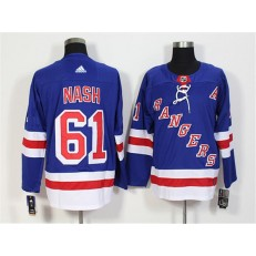 New York Rangers #61 Rick Nash Blue Adidas Jersey