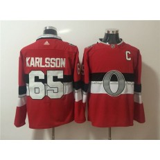 Ottawa Senators #65 Erik Karlsson Red 2017 NHL 100 Classic Player Adidas Jersey