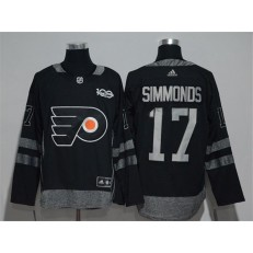 Philadelphia Flyers #17 Wayne Simmonds Black 1917-2017 100th Anniversary Adidas Jersey
