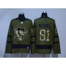 Pittsburgh Penguins #81 Phil Kessel Olive Green Adidas Jersey