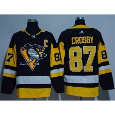 Pittsburgh Penguins #87 Sidney Crosby Black Glittery Edition Adidas Jersey