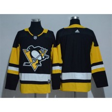 Pittsburgh Penguins Blank Black Adidas Jersey