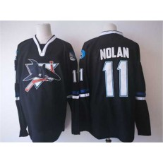 San Jose Sharks #11 Owen Nolan Black Jersey