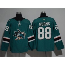 San Jose Sharks #88 Brent Burns Teal Glittery Edition Adidas Jersey