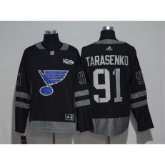 St.Louis Blues #91 Vladimir Tarasenko Black 1917-2017 100th Anniversary Adidas Jersey