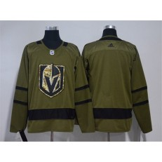 Vegas Golden Knights Blank Olive Green Adidas Jersey