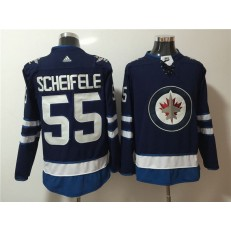 Winnipeg Jets #55 Mark Scheifele Navy Adidas Jersey
