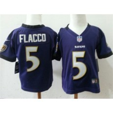 Nike Baltimore Ravens 5 Joe Flacco Purple Toddler Game Jersey
