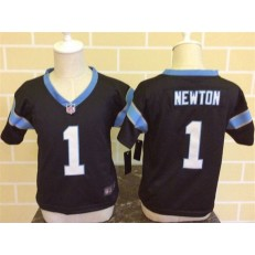 Nike Carolina Panthers 1 Cam Newton Black Toddler Game Jersey